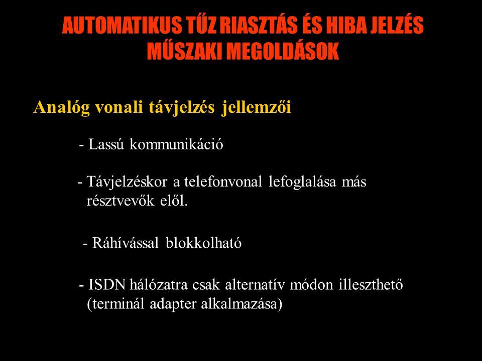 AUTOMATIKUS TŰZ RIASZTÁS ÉS HIBA JELZÉS