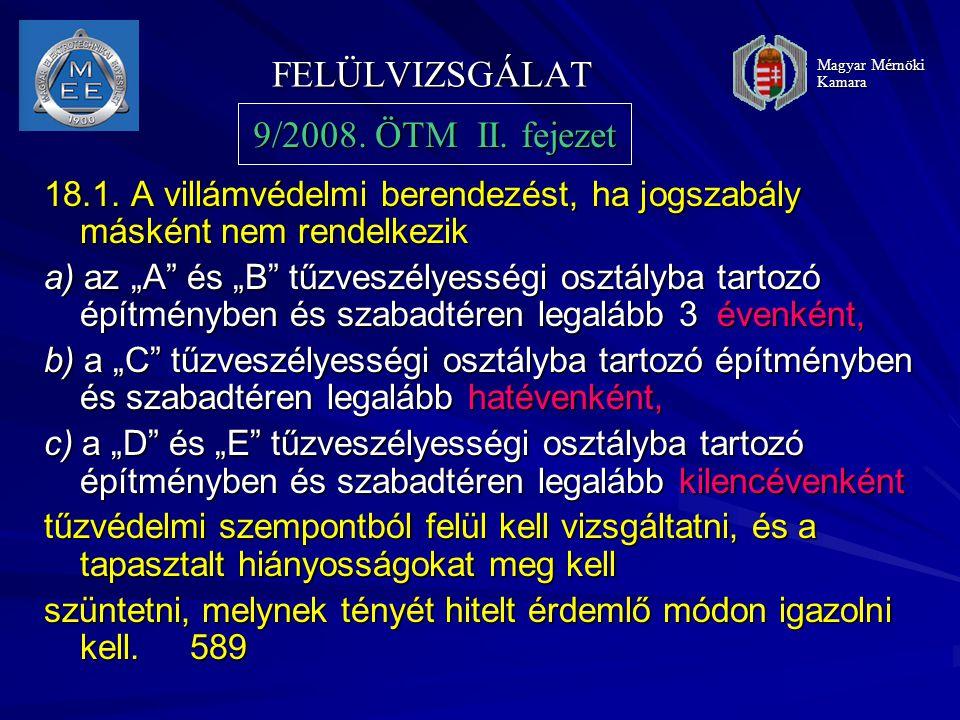 FELÜLVIZSGÁLAT 9/2008. ÖTM II. fejezet