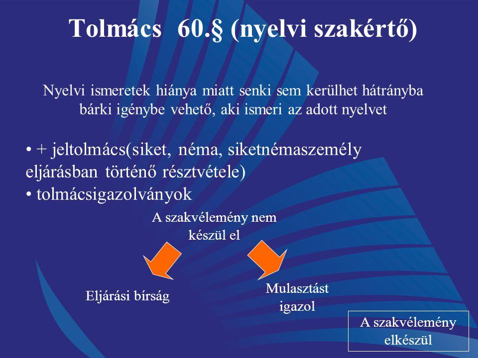 Tolmács 60.§ (nyelvi szakértő)