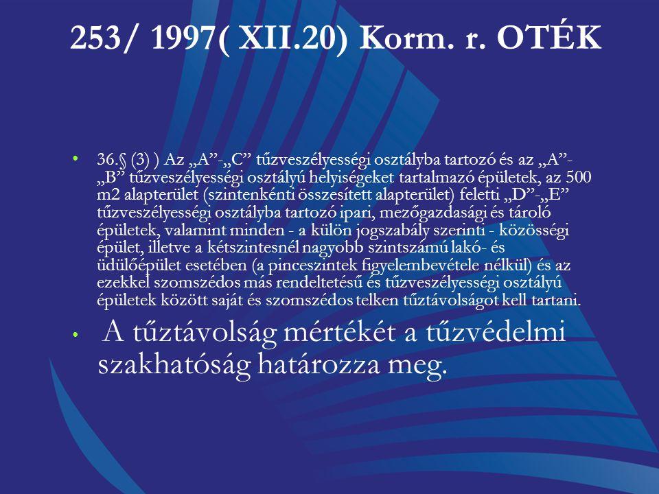 253/ 1997( XII.20) Korm. r. OTÉK