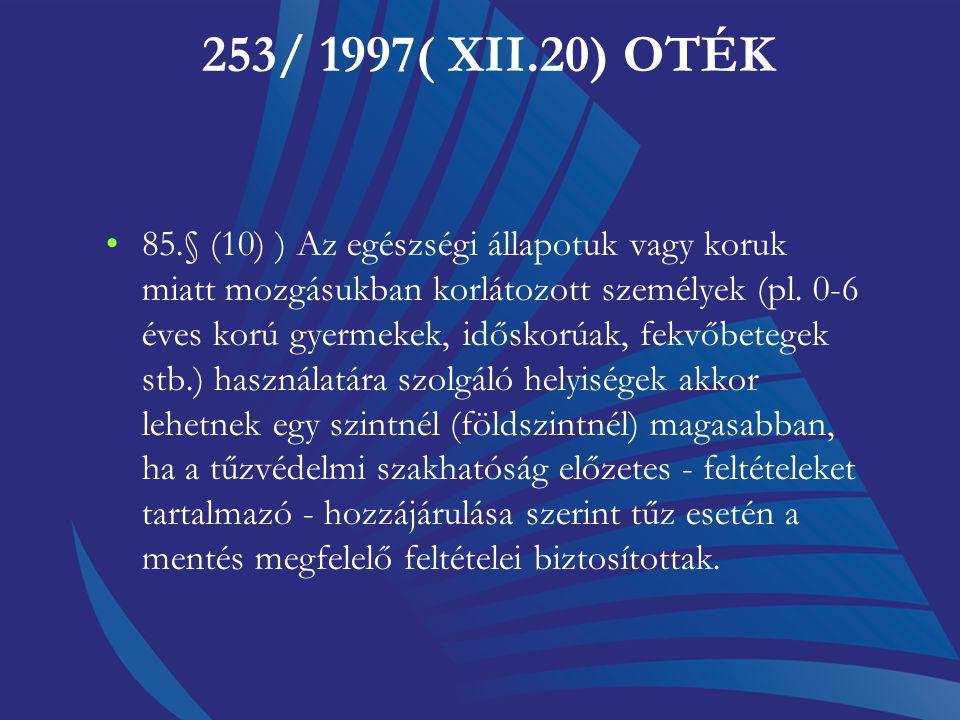 253/ 1997( XII.20) OTÉK
