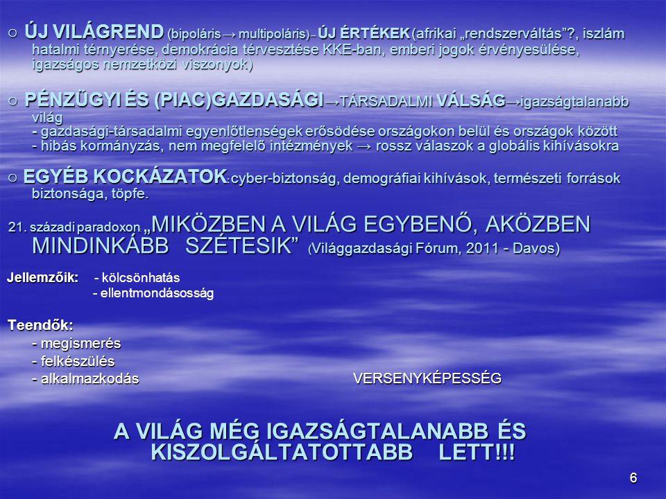 A VILÁG MÉG IGAZSÁGTALANABB ÉS KISZOLGÁLTATOTTABB LETT!!!