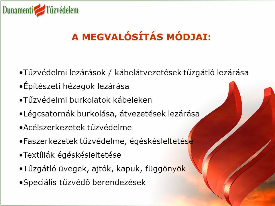 A MEGVALÓSÍTÁS MÓDJAI:
