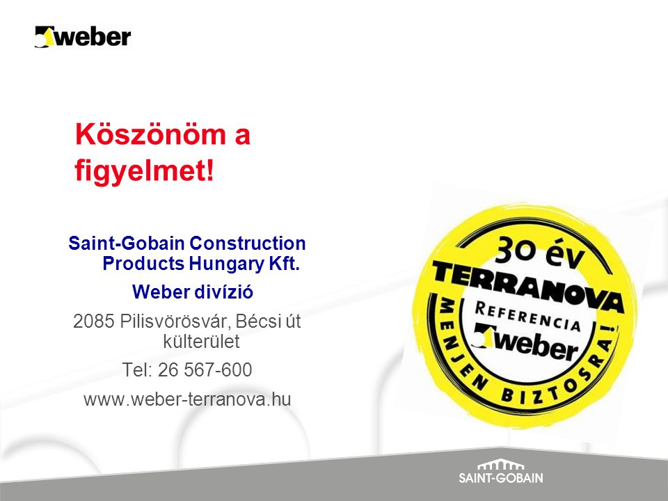Saint-Gobain Construction Products Hungary Kft.