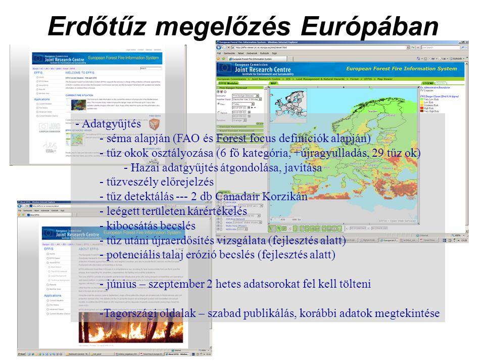 Erdőtűz megelőzés Európában