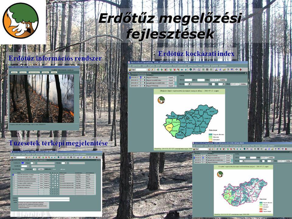 Erdőtűz megelőzési fejlesztések