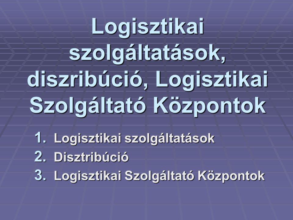 Logisztikai szolgáltatások, diszribúció, Logisztikai Szolgáltató Központok