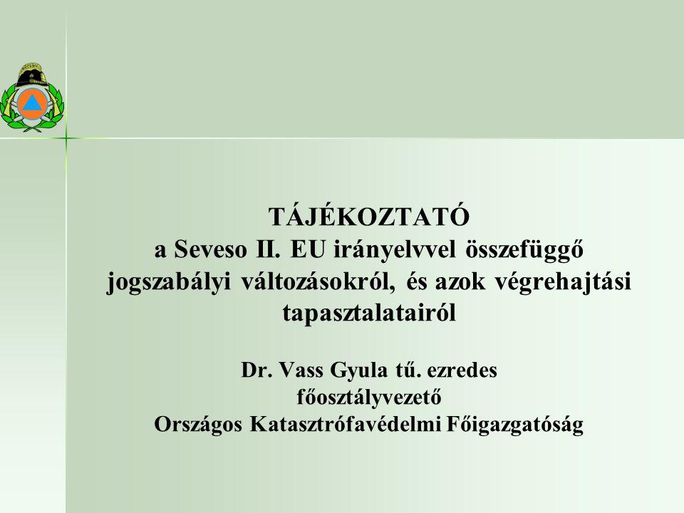 a Seveso II. EU irányelvvel összefüggő
