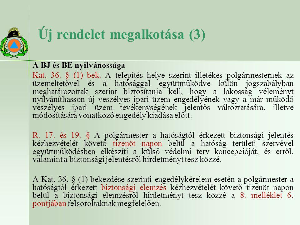 Új rendelet megalkotása (3)