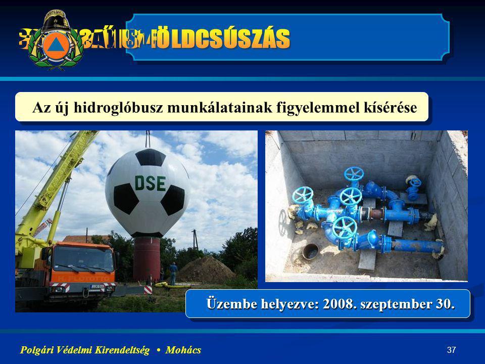 Az új hidroglóbusz munkálatainak figyelemmel kísérése