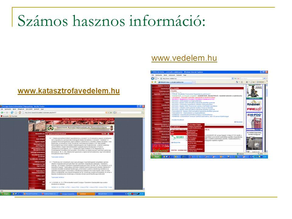 Számos hasznos információ:
