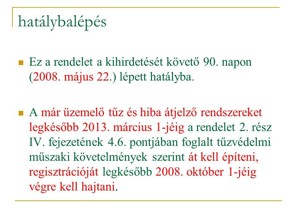hatálybalépés Ez a rendelet a kihirdetését követő 90. napon (2008. május 22.) lépett hatályba.