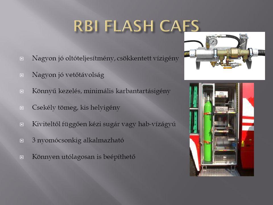 RBI FLASH CAFS Nagyon jó oltóteljesítmény, csökkentett vízigény