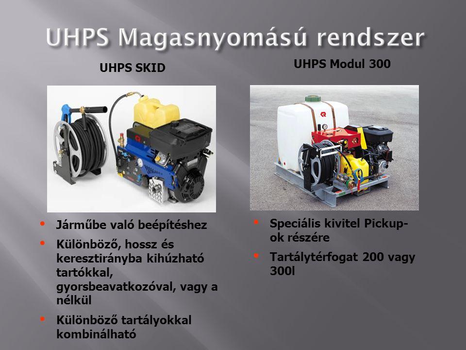 UHPS Modul 300 UHPS SKID. Járműbe való beépítéshez. Különböző, hossz és keresztirányba kihúzható tartókkal, gyorsbeavatkozóval, vagy a nélkül.