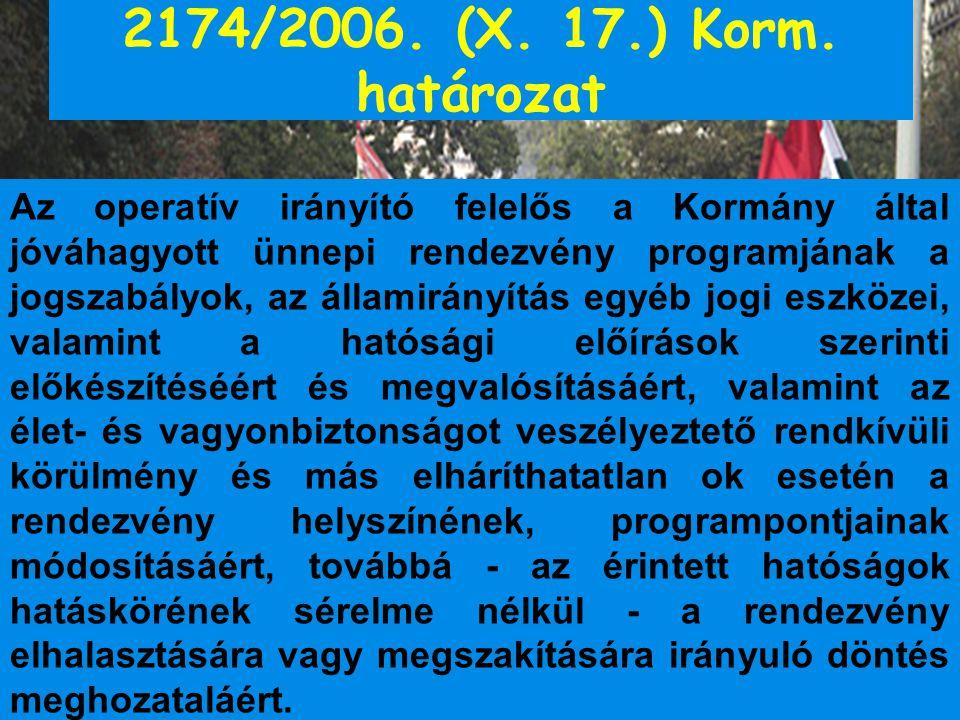 2174/2006. (X. 17.) Korm. határozat