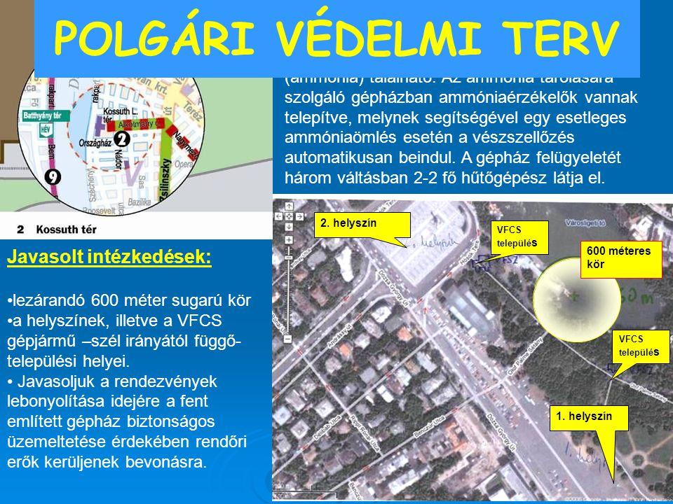 POLGÁRI VÉDELMI TERV Városligeti Műjégpálya Javasolt intézkedések: