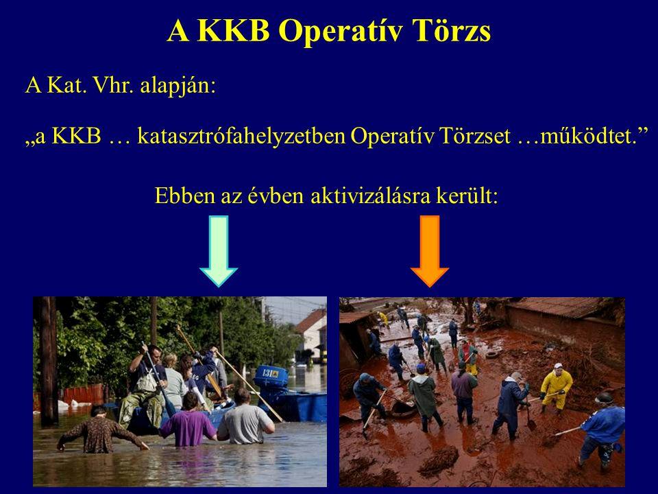 A KKB Operatív Törzs A Kat. Vhr. alapján: