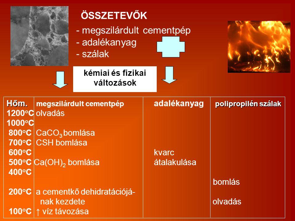 kémiai és fizikai változások