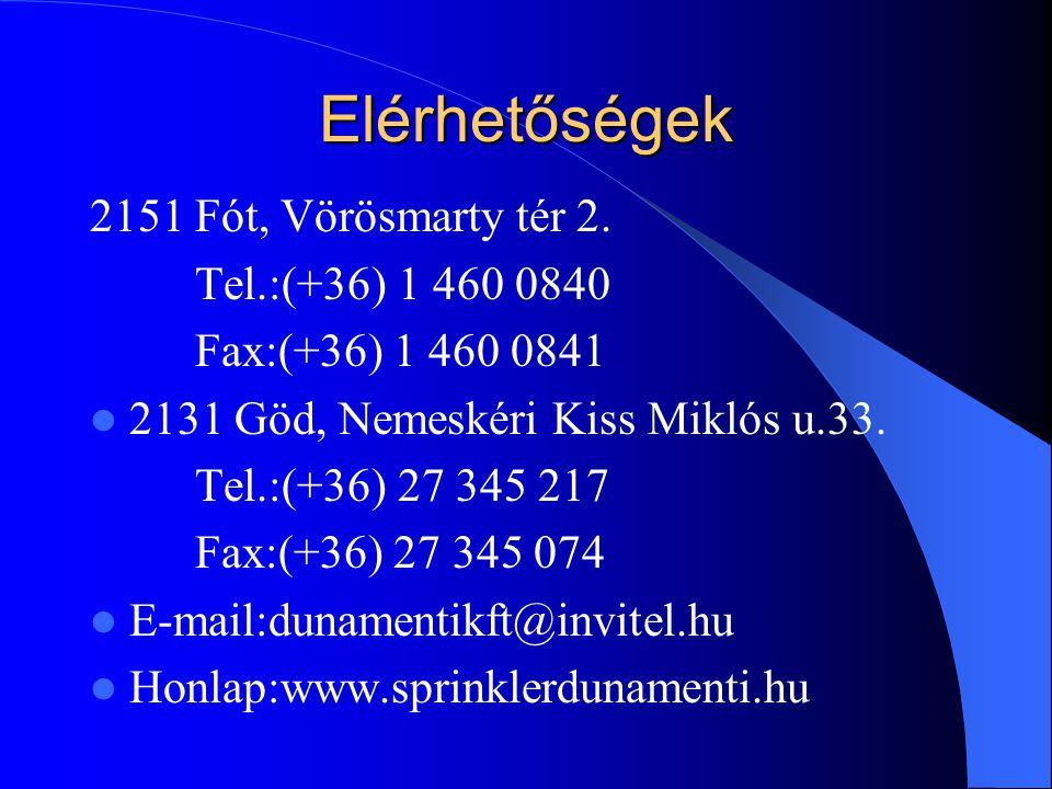 Elérhetőségek 2151 Fót, Vörösmarty tér 2. Tel.:(+36) 1 460 0840