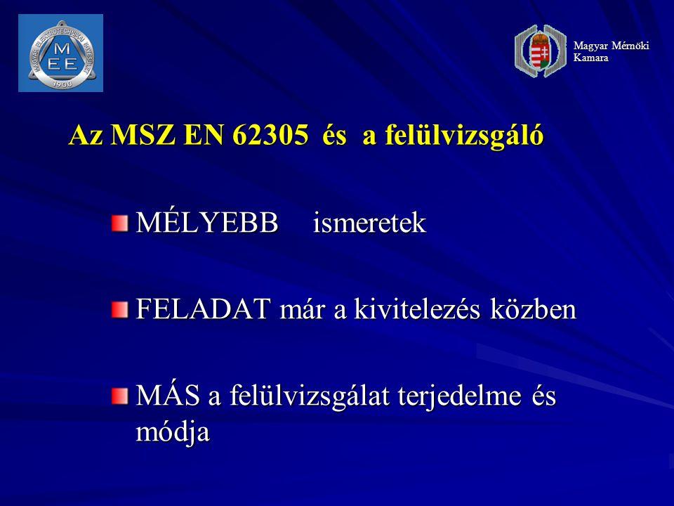 Az MSZ EN 62305 és a felülvizsgáló