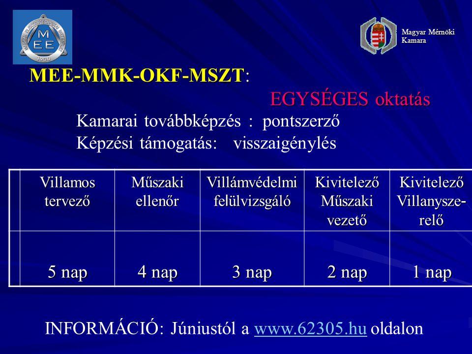 MEE-MMK-OKF-MSZT: EGYSÉGES oktatás