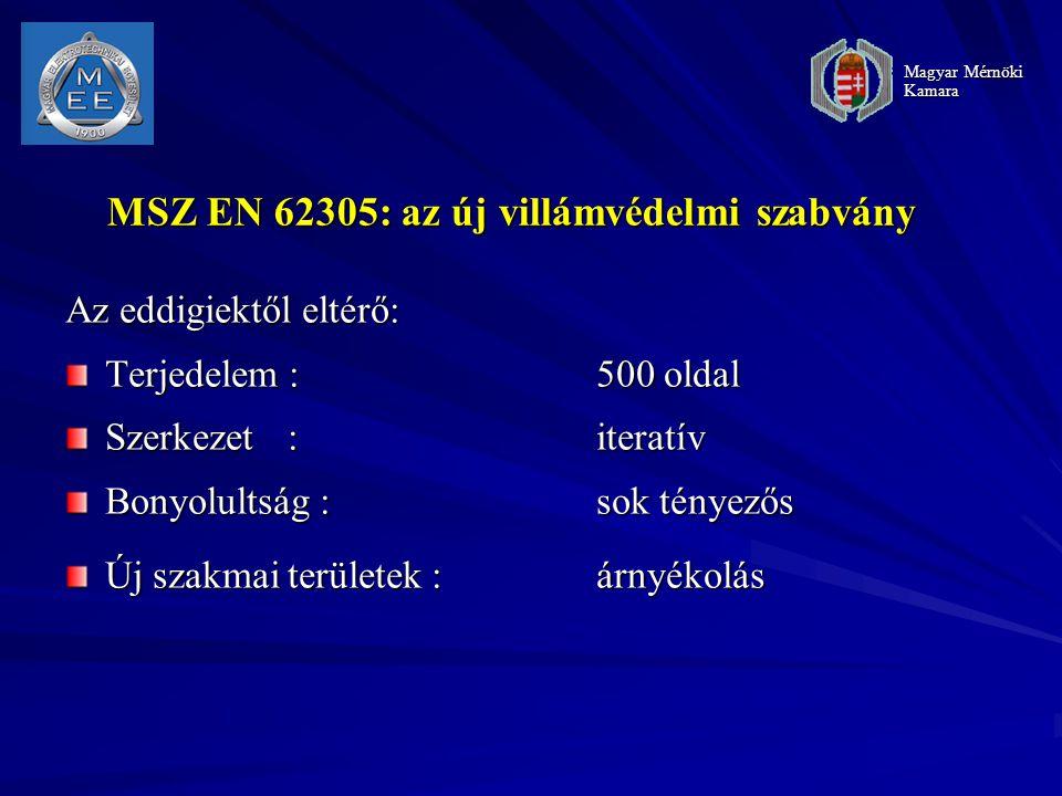 MSZ EN 62305: az új villámvédelmi szabvány