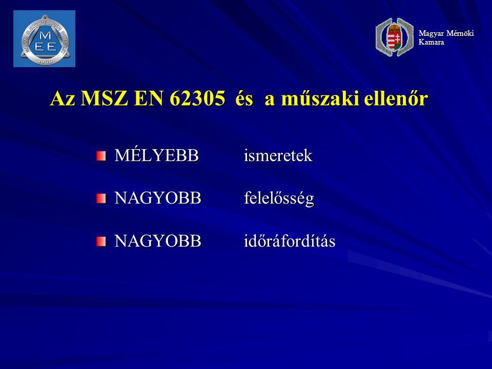Az MSZ EN 62305 és a műszaki ellenőr