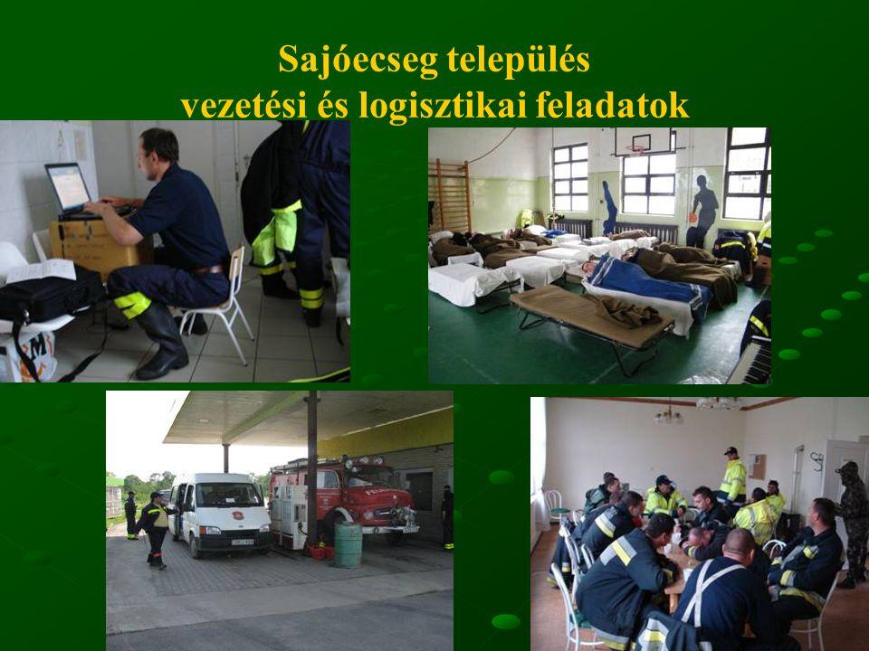 Sajóecseg település vezetési és logisztikai feladatok
