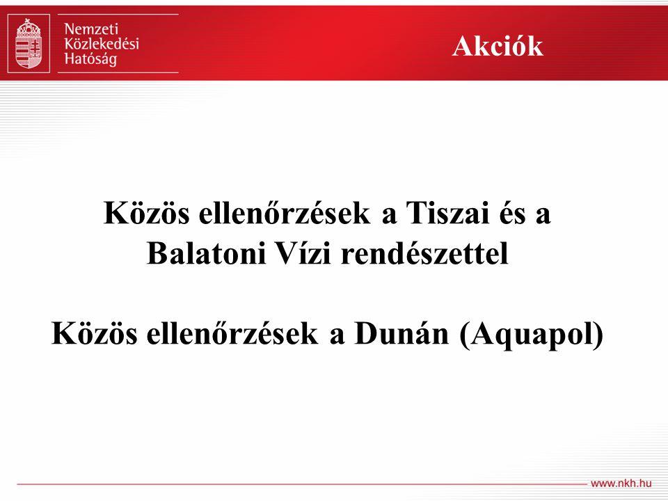 Közös ellenőrzések a Tiszai és a Balatoni Vízi rendészettel