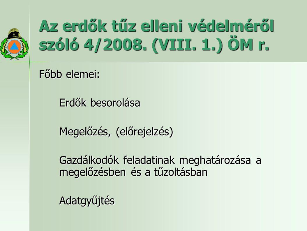 Az erdők tűz elleni védelméről szóló 4/2008. (VIII. 1.) ÖM r.