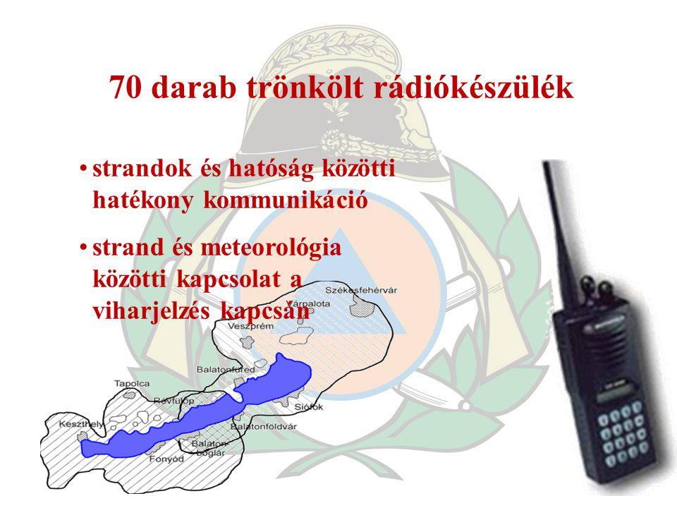 70 darab trönkölt rádiókészülék