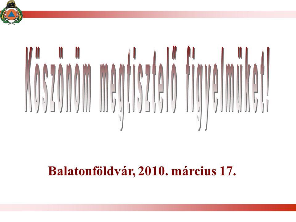 Köszönöm megtisztelő figyelmüket! Balatonföldvár, 2010. március 17.