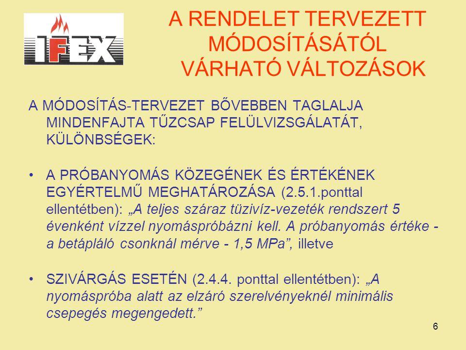 A RENDELET TERVEZETT MÓDOSÍTÁSÁTÓL VÁRHATÓ VÁLTOZÁSOK