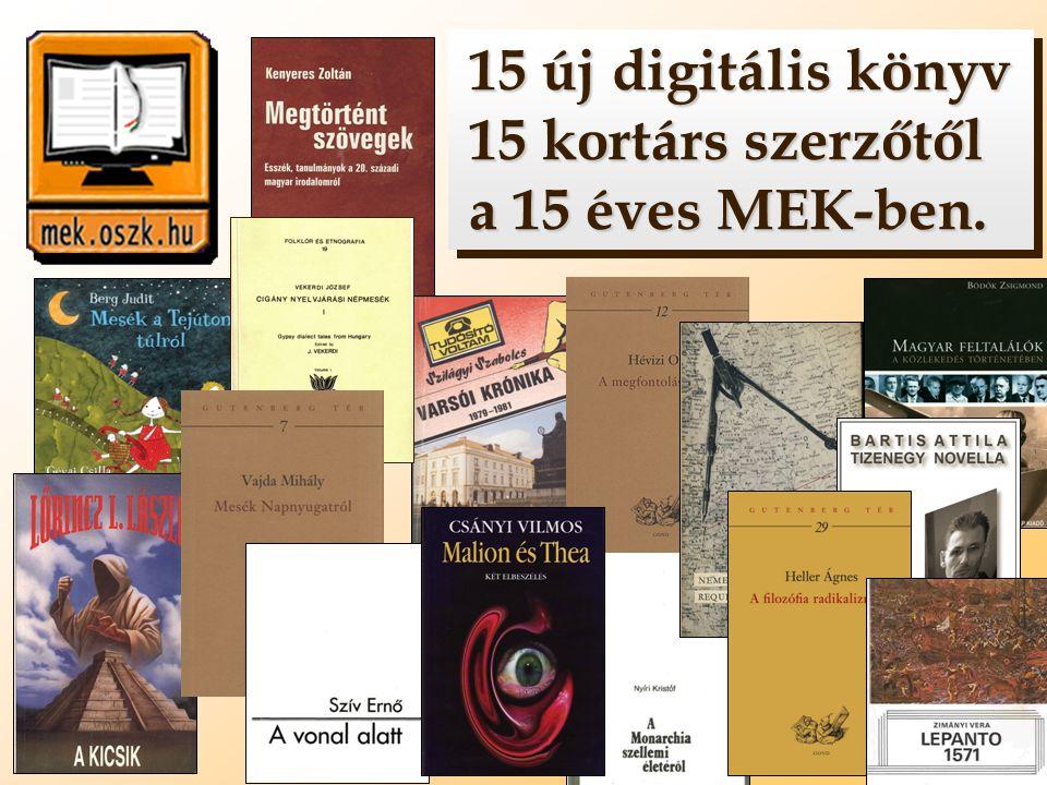 15 új digitális könyv 15 kortárs szerzőtől