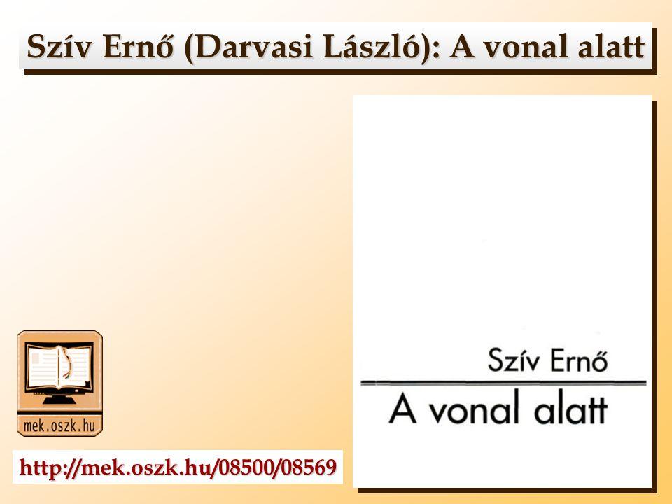 Szív Ernő (Darvasi László): A vonal alatt