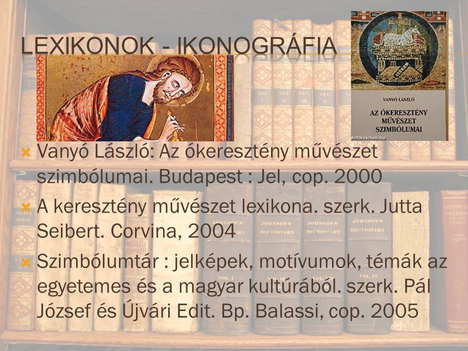 Lexikonok - ikonográfia