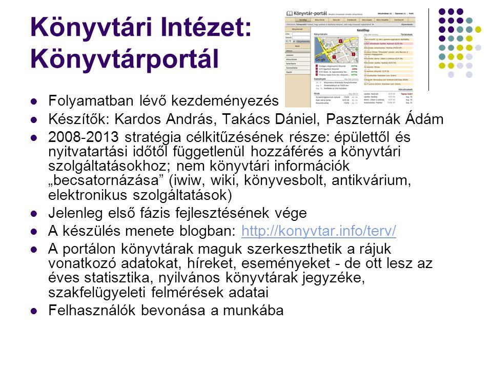 Könyvtári Intézet: Könyvtárportál