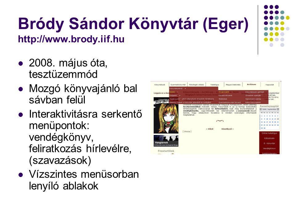 Bródy Sándor Könyvtár (Eger) http://www.brody.iif.hu