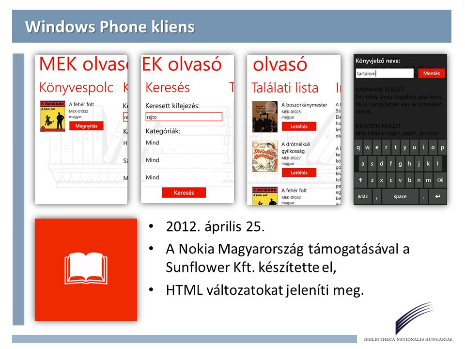 Windows Phone kliens 2012. április 25.