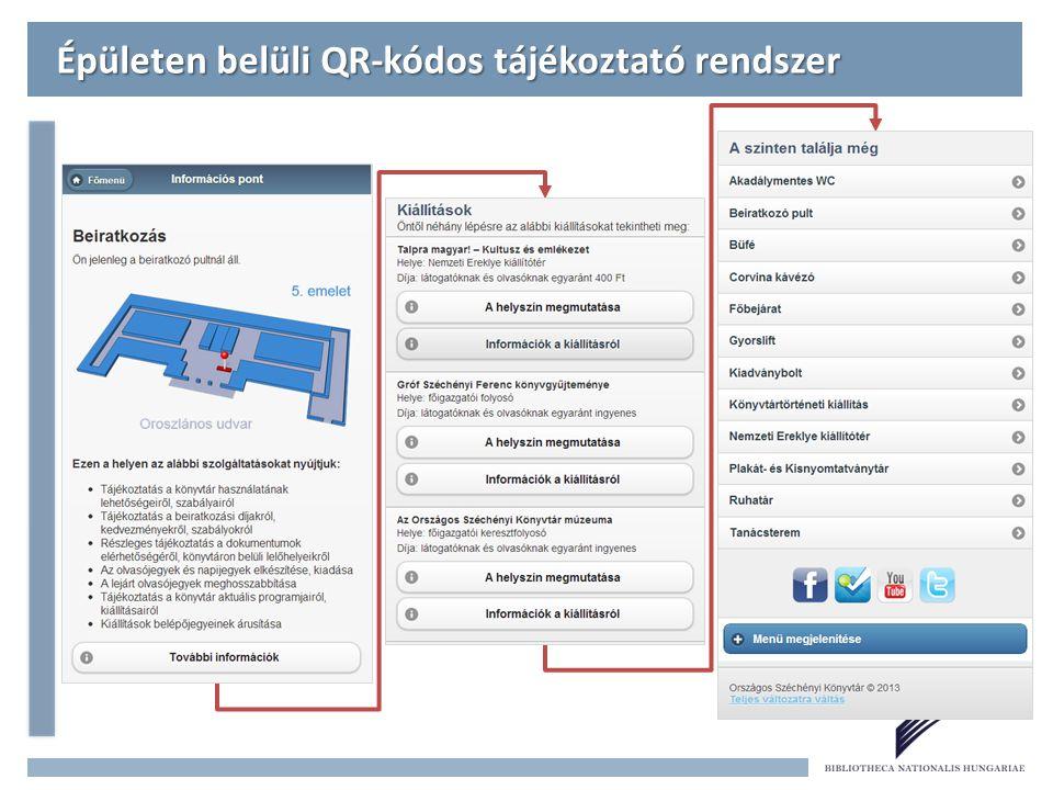 Épületen belüli QR-kódos tájékoztató rendszer