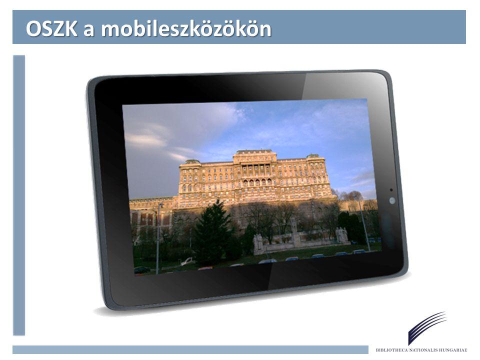 OSZK a mobileszközökön