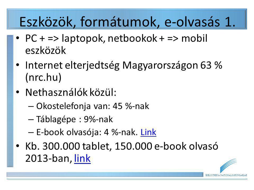 Eszközök, formátumok, e-olvasás 1.