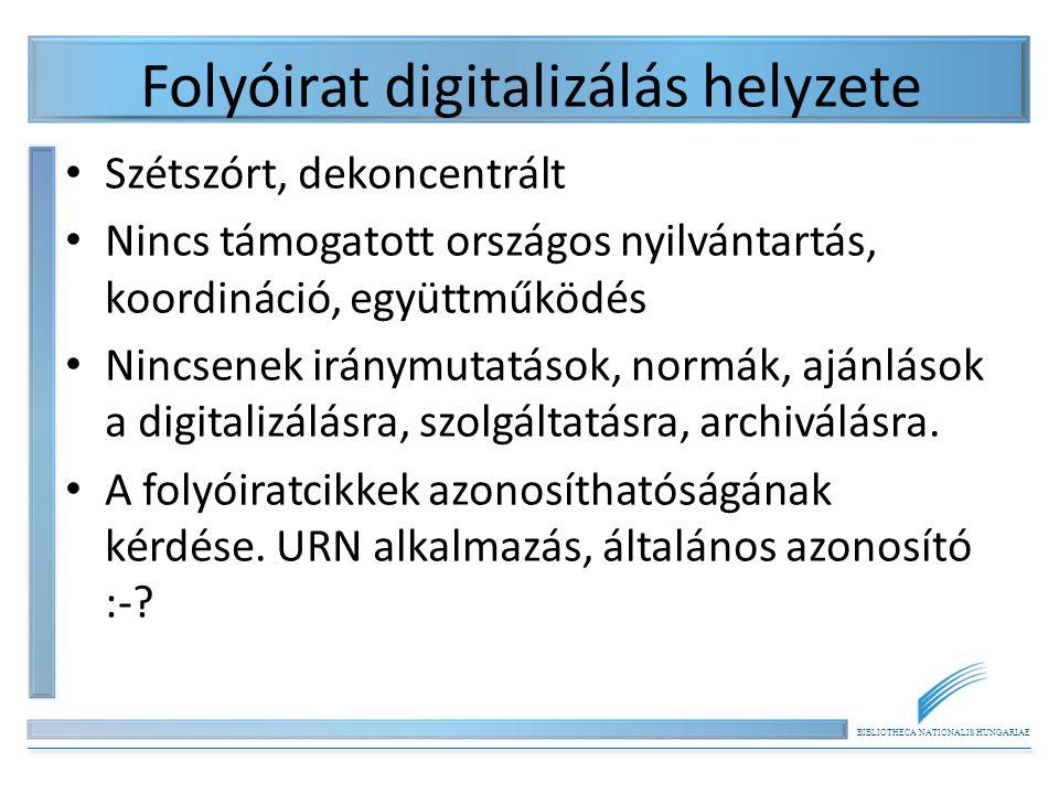 Folyóirat digitalizálás helyzete