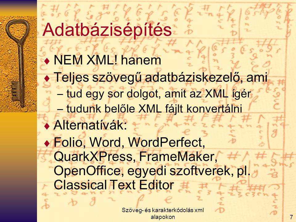 Szöveg- és karakterkódolás xml alapokon