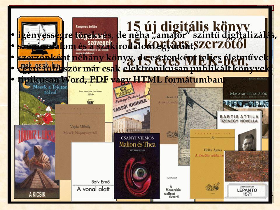 Szerzők vagy örökösök által publikált művek