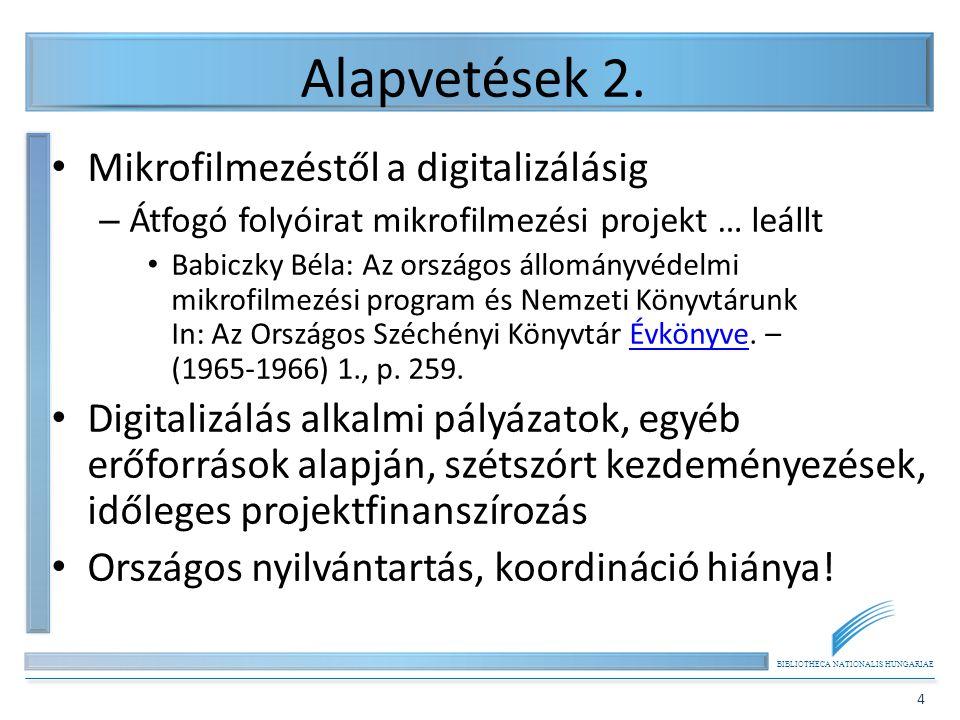 Alapvetések 2. Mikrofilmezéstől a digitalizálásig