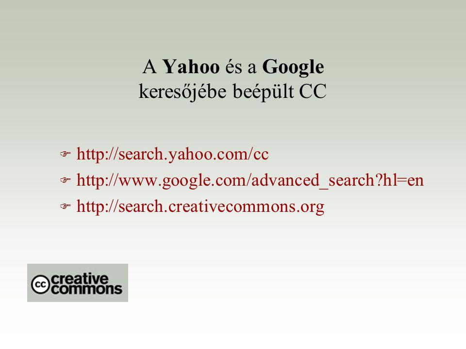 A Yahoo és a Google keresőjébe beépült CC