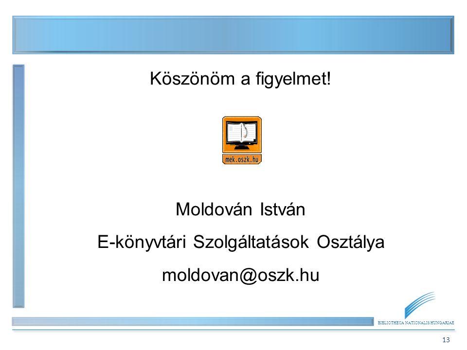 E-könyvtári Szolgáltatások Osztálya