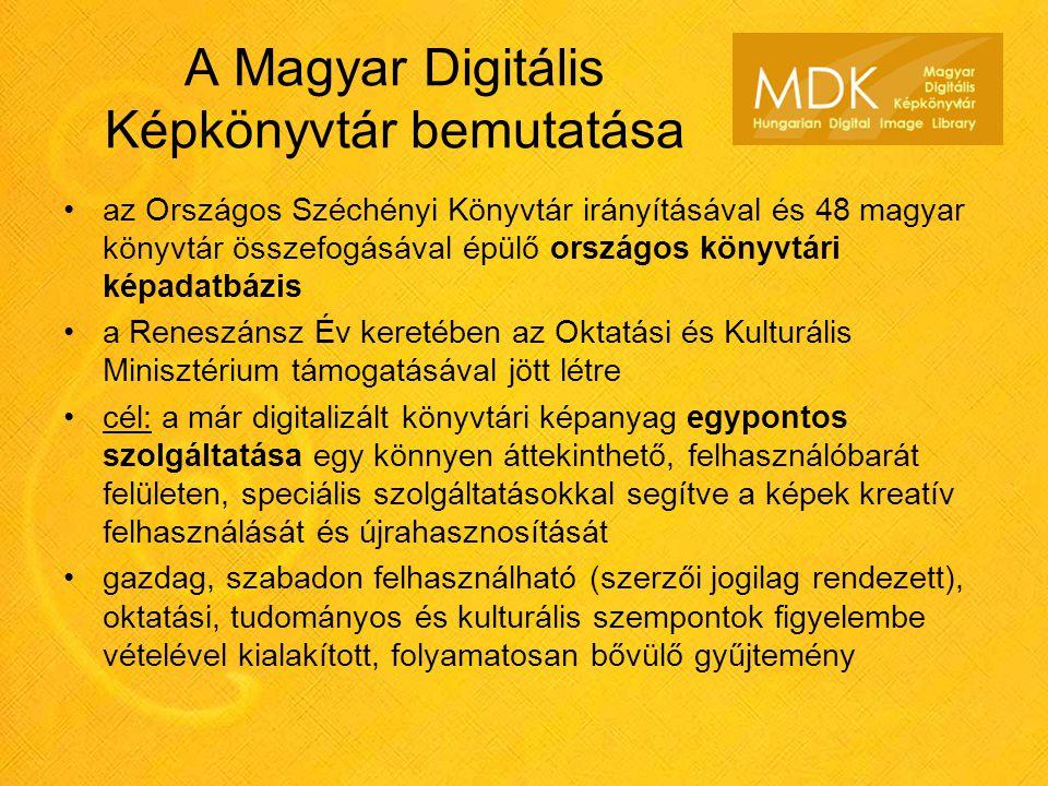 A Magyar Digitális Képkönyvtár bemutatása