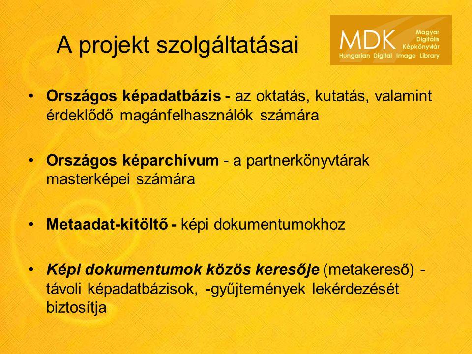 A projekt szolgáltatásai